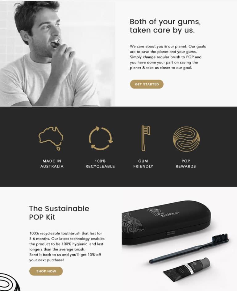 Website design and development for environmental friendly brand